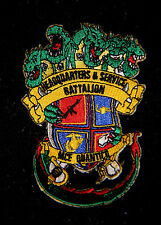 H & S HEADQUARTERS & SERVICE BN MCE QUANTICO HAT PATCH US MARINES PIN UP DRAGON