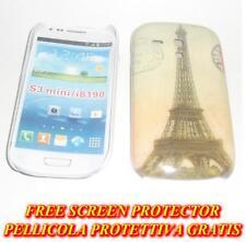 Pellicola + custodia BACK cover TORRE EIFFEL per Samsung I8190 Galaxy S3 mini H5