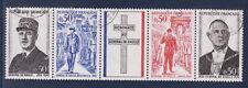 bande general de Gaulle 1971   num: 1695/98   oblitéré /2