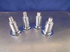 "Commercial kitchen equipment leg set. 4 legs 3 hole mount 6"" adjustable"