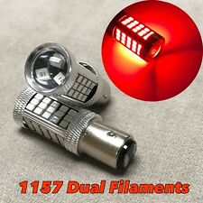 2x 1157 63SMD 7528 RED LED Bulb Car Truck Brake Stop Light Lamp For Subaru Isuzu