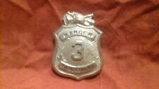 Official Vintage PRINCETON, NJ Fire Dept Badge  MERCER NO. 3