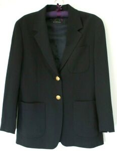 Bogner Sz 40 Navy Blue Mens Jacket Corporate Blazer Gold Formal Golf Lightweight