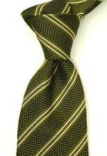 """$250 NWT TOM FORD Woven Green w Tonal & White Stripes Silk Neck Tie Italy 3.5""""W"""