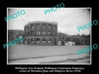 OLD 8x6 HISTORIC PHOTO OF WELLINGTON NEW ZEALAND THE TRAMWAYS BUILDING c1930s