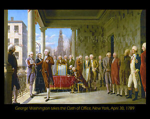 George Washington takes oath of office 1789, new 8x10 photo print with caption