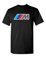 BMW M3 M5 M logo car racing T-shirt high-quality sports car lover tees