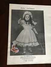Vtg Shirley Augustine Ena (Sh1079) Doll & Dress Pattern sa 173 Crafts Sewing