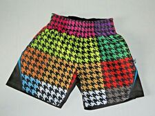 Flow Society Boys Size Xxs (6) Rainbow Houndstooth Athletic Lacrosse Shorts