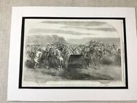 1853 Print Queen Victoria Windsor Great Park British Royalty Antique Original