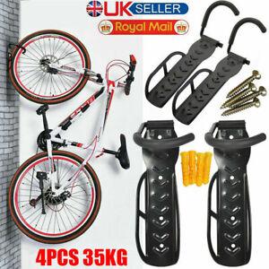 4x Bike Storage Rack Hook Wall Mount Vertical Garage Bicycle Hanger Stand Holder