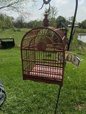 Vintage Asian Bamboo Bird Cage Sliding Tray Indiana Farm Nice a/b