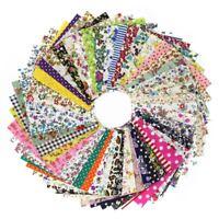 Parche de costura DIY 60pcs 10cmx10cm Paquete de tela de algodon encanta Te D4L4