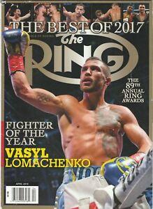 THE RING MAGAZINE VASYL LOMACHENKO COVER APRIL 2018