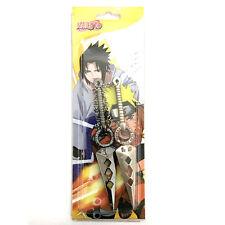 Naruto Sasuke Anime Kunai Shuriken Ninja Dagger Keychain Set USA