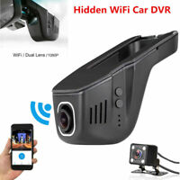 HD 1080P Hidden Mini WiFi Car DVR Rear Camera Dash Cam Video Recorder Dual Lens