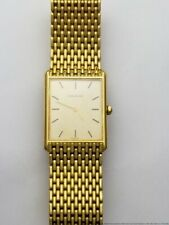 Ultra-Thin 73.2g Mens Jaeger LeCoultre Beads Of Rice 18k Gold Bracelet Watch