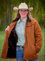 Wyoming Traders Womens Canvas Cowgirl Western Ranch Coat
