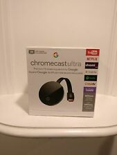 Google Chromecast Ultra Black Digital Media Streamer (CA)