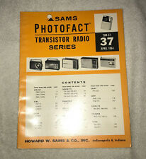 Sams Photofact Transistor Radio Series Volume 37 (1964)
