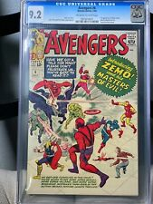 Avengers #6 CGC GRADED 9.2 OWW First Baron Zemo Masters of Evil DISNEY+ HTF