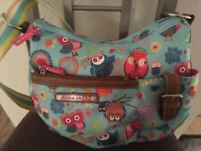 LILY BLOOM  Kathryn Hobo Bag BLUE OWL ALWAYS LOVE YOU   New!