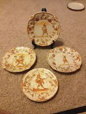 "Set of 4 Salad Plates Saucer China Alladin Lamp Signature 218 A 6"" and 6.5"""