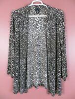 STK3356- MAGGIE BARNES Women's Polyester Travel Knit Open Front Jacket 0X 14 16
