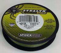 125 YDS 40LB SPIDERWIRE Glow Vis Green STEALTH BRAID FISHING LINE 40 LB