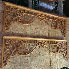 """ONE 1990's Victorian Style Oak Gingerbread for Doorway 60"""" by 19"""""""