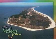 Aerial View of Fort Morgan, Alabama, Gulf Shores, Mobile Bay, AL --- Postcard