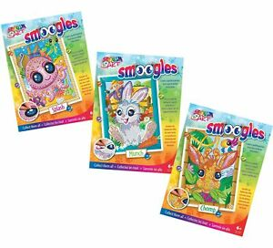 Sequin Art Smoogles 3 Craft Kits Bundle - Bunny, Giraffe & Octopus