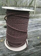 New listing Brown braided string. Four pieces real leather braided beautifully. 4 Mm