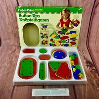 Vintage Fisher Price 1980's Button Ups toy Arts & Crafts Game New Boxed rare