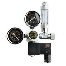 Fish Tank Aquarium Dual Gauge CO2 Regulator System with Integrated Solenoid Kit