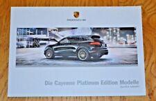 Porsche Cayenne Platinum Edition Car Sales Brochure in German