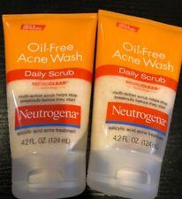 2 Pack - Neutrogena Oil-Free Acne Wash Daily Scrub 4.20oz Each