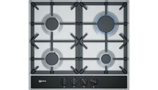 Neff T26DA49N0 58cm 4 Burner Gas Hob in Stainless Steel with Cast Iron Supports