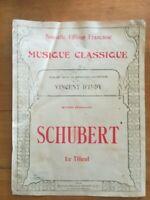Ancienne Partition - Le tilleul - Schubert