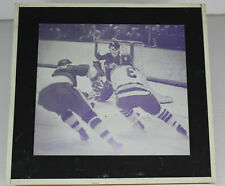 Flint Generals IHL Program Printing Plate Mounted Des Moines Capitals 1970s
