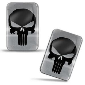 2 x Punisher Totenkopf Aufkleber Skull Schädel 3D Emblem Auto Moto Tuning KS 193