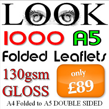 1000 A5 Folded Leaflets 148mm x 210mm