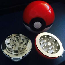 New 55mm 3 Layer Zinc Alloy Pokeball Pokemon Tobacco Mil Spice Herb Grinder Gift