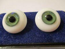 22 mm Green Paperweight Glass Eyes Dolls, 12.5 mm Iris    Z1