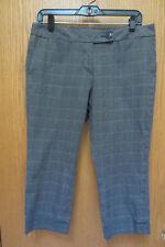 Ann Taylor LOFT  Checkered Capris Size 8P Petite Cotton with Spandex