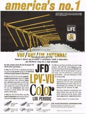 1966 JFD LPV-VU Color Log Periodic TV Antenna Vtg Print Ad