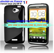HTC ONE X COQUE, ÉTUI, CASE/COVER , OU S720E / ONE XL / EVO , COULEUR NOIR
