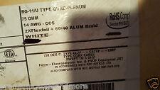 Carol C3529 RG11/U Quad Shield Plenum/Dir Bur Kynar Teflon Coaxial Cable /20ft