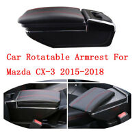 Car Centre Console Storage Box Armrest Rotatable For Mazda CX-3 2015-2018 Red