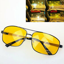 Mens Night View Vision Driving Driver's Anti-glare Glasses Goggle Yellow Lens